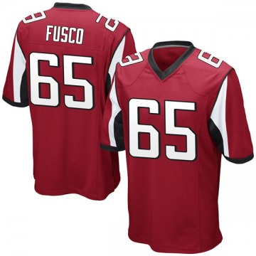 Men's Brandon Fusco Atlanta Falcons Nike Game Team Color Jersey - Red