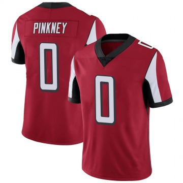 Men's Jared Pinkney Atlanta Falcons Nike Limited Red Team Color Vapor Untouchable Jersey - Pink